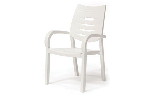 Happy Outdoor Patio Chair White