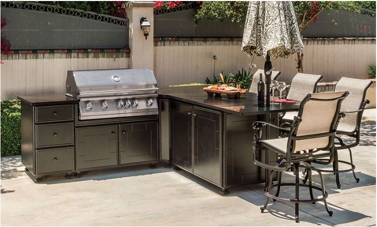 "Gensun Outdoor Patio Kitchen 24"" Modular Single Door Cabinet is available in our Jacobs Custom Living Spokane Valley showroom."