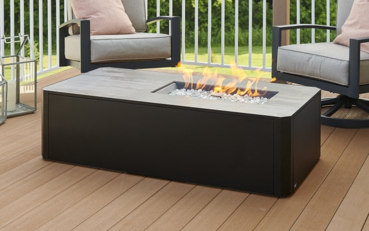 Vintage Linear Fire Pit Table Cover | The Outdoor Greatroom Company jacobs custom living spokane wa