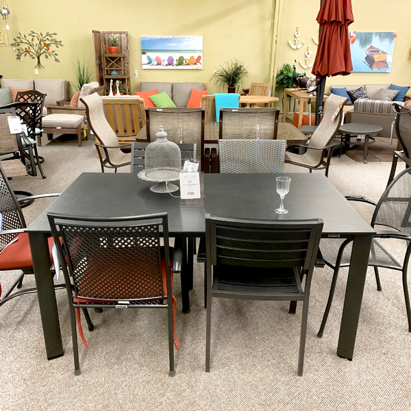 The Kettler Loft Patio Dining Table is available at Jacobs Custom Living Spokane Valley showroom.