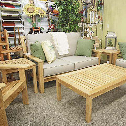 Kingsley-Bate Chelsea Teak Loveseat is available at our Jacobs Custom Living Spokane Valley showroom.