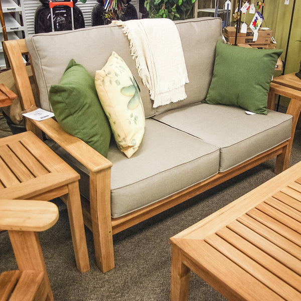 Kingsley-Bate Chelsea Teak Patio Loveseat CO55 - Outdoor Furniture, Indoor Furniture & Upholstery Store Spokane - Jacobs Custom Living