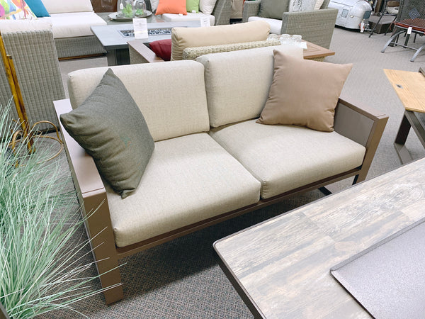 IndoSoul St. Lucia Outdoor Loveseat in our Jacobs Custom Living Spokane Valley showroom.