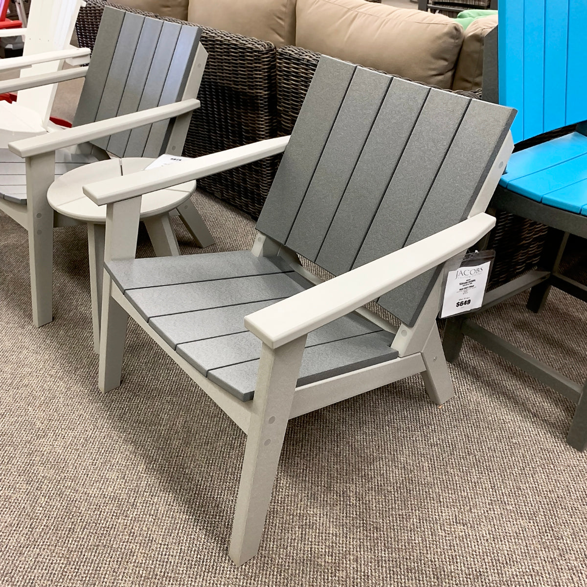 Seaside Casual Mad Patio Chat Chairis available in our Jacobs Custom Living Spokane Valley Showroom.
