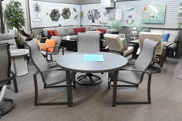 Tropitone Mainsail High Back Dining Chair is available at Jacobs Custom Living in Spokane Valley, WA.