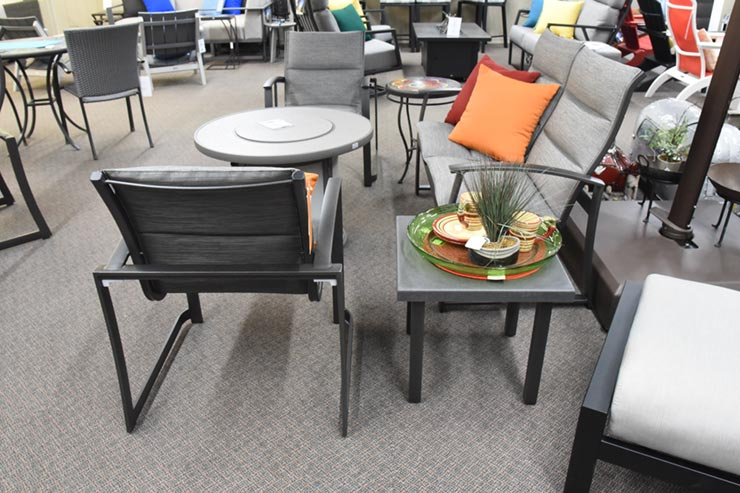 "Tropitone Matrix 20"" Square Tea Table is available at Jacobs Custom Living in Spokane Valley, WA."