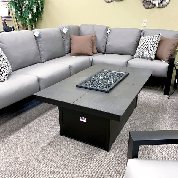 Homecrest Mode Coffee Fire Table W/Bowl Cover is available at Jacobs Custom Living our Jacobs Custom Living Spokane Valley showroom.