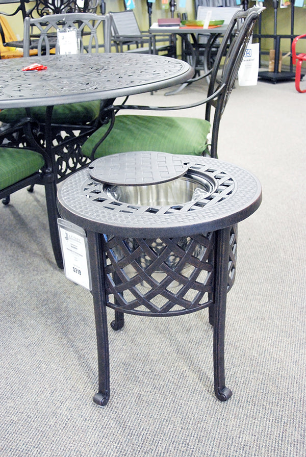 "Hanamint Berkshire 20"" round ice bucket side table is available in our Jacobs Custom Living Spokane Valley Showroom."