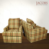 Plaid Chair Living Room Furniture
