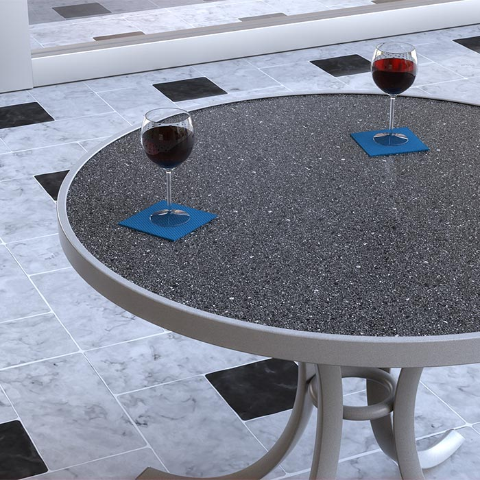 "Tropitone Raduno 48"" Round Dining Umbrella Table MMG is available at Jacobs Custom Living in Spokane Valley WA"
