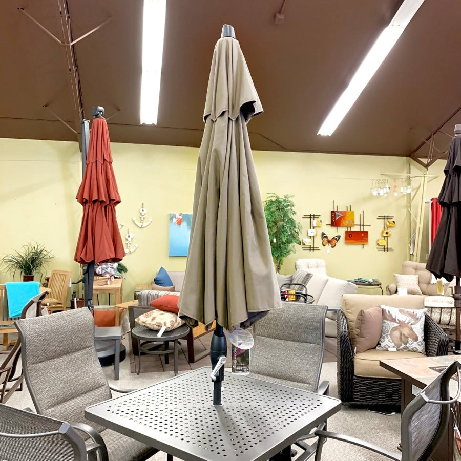 Treasure Garden 9' SWV - 4861 Taupe Umbrella is available in our Jacobs Custom Living Spokane Valley showroom.