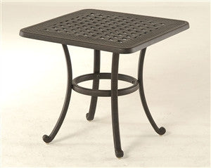 "Hanamint Berkshire 24"" Square Outdoor Patio Side Table is available in our Jacobs Custom Living Spokane Valley showroom."