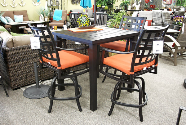 Hanamint Stratford Outdoor Patio Dining Swivel Counter Stool is available at Jacobs Custom Living Spokane Valley showroom.