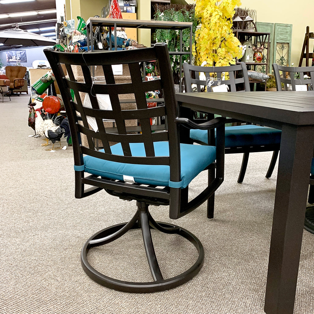 Hanamint Stratford Outdoor Patio Swivel Rocker Dining Chair is available at Jacobs Custom Living Spokane Valley showroom.