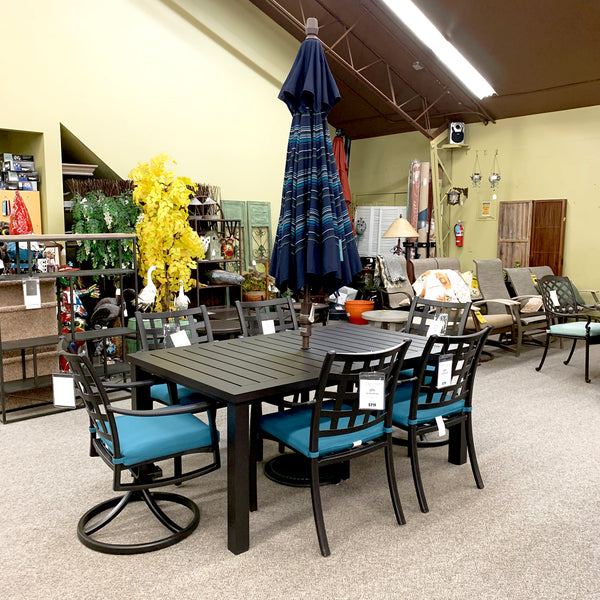 Hanamint Stratford Outdoor Patio Dining Arm Chair is available at Jacobs Custom Living Spokane Valley showroom.