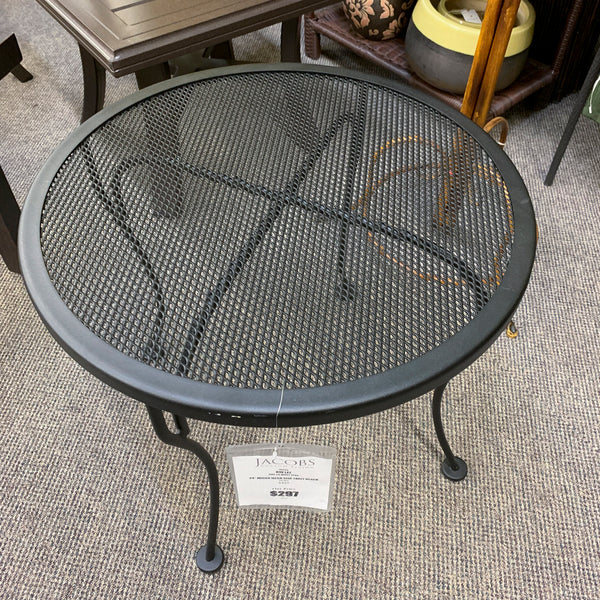 OW Lee Micro Mesh Wrought Iron Round 24 End Table is available on our Jacobs Custom Living, Spokane Valley WA showroom.