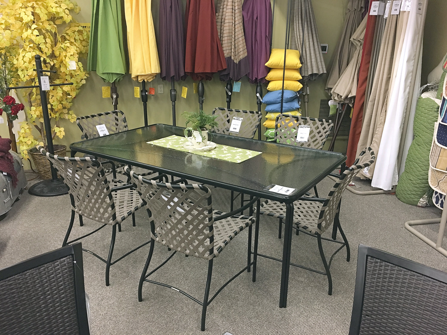 The Brown Jordan Outdoor Tamiami Dining Arm Chair is available in our Jacobs Custom Living Spokane Valley showroom.