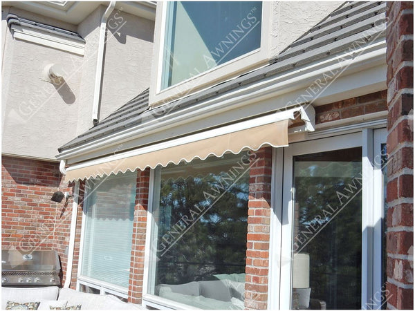 Valencia Semi-Cassette Retractable Patio Awning is available at Jacobs Custom Living our Jacobs Custom Living Spokane Valley showroom.