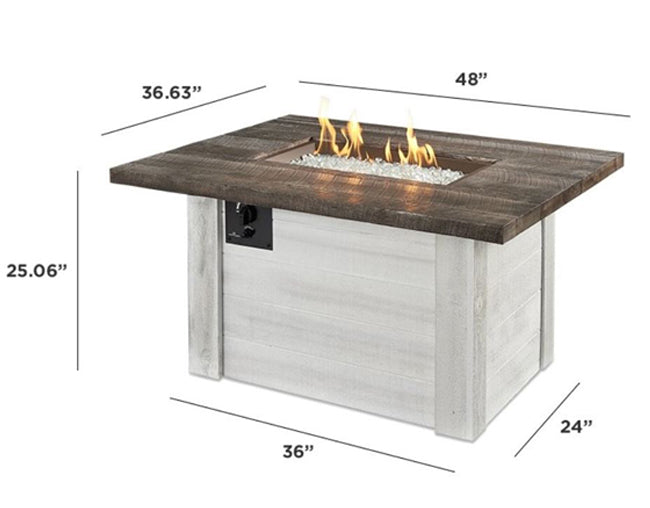 allcott gas fire pit table at jacobs custom living spokane wa
