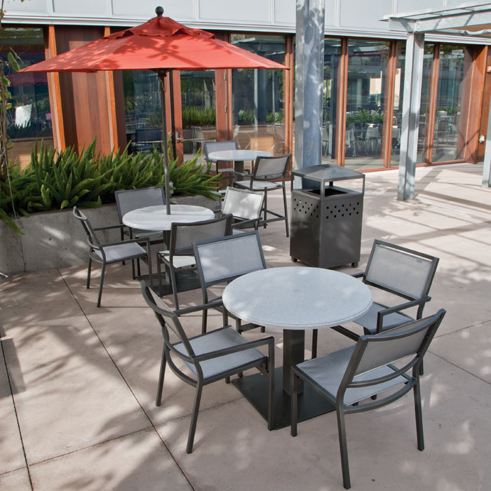 Tropitone Cabana Club Sling Dining Arm Chair is available at Jacobs Custom Living in Spokane Valley WA.