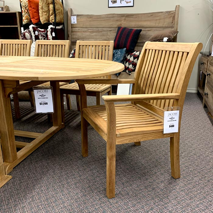 kingsley bate's chelsea patio arm chair is available at  jacobs custom living spokane wa