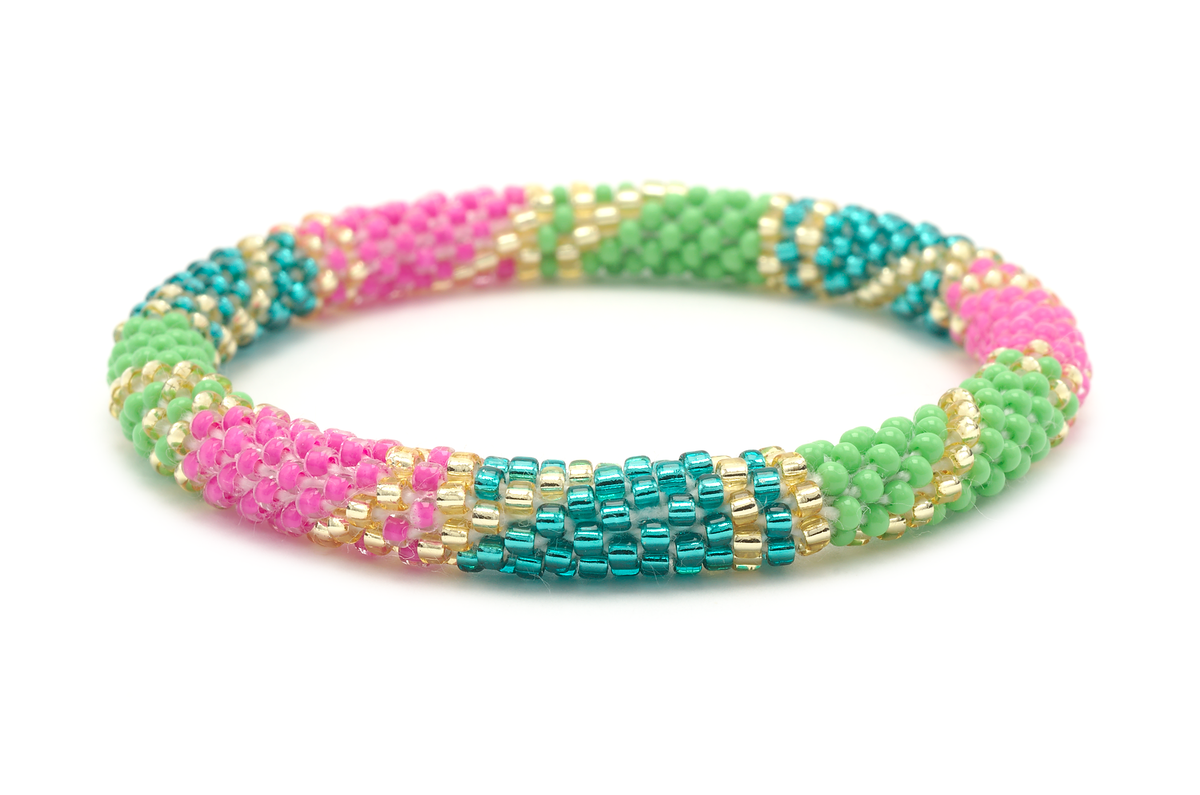 Sashka Co. Original Bracelet Pink / Green / Teal / Gold Bella Bracelet