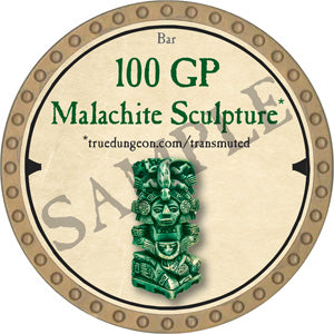 100 GP Malachite Sculpture