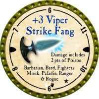 True Dungeon +3 Viper Strike Fang Token