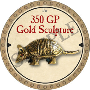 350 GP Gold Sculpture