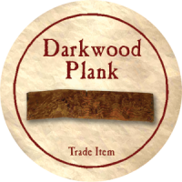 True Dungeon Darkwood Plank Token