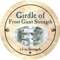 True Dungeon Girdle of Frost Giant Strength Token