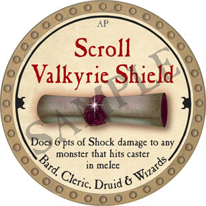 Scroll Valkyrie Shield