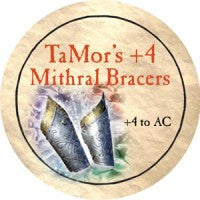 True Dungeon TaMor's +4 Mithral Bracers Token
