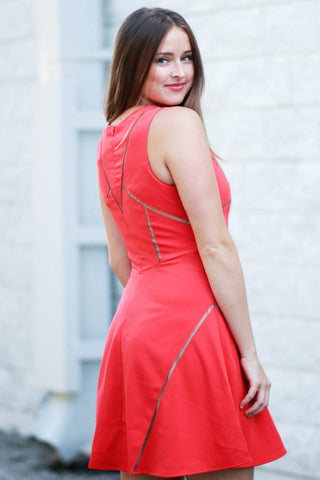 Red Hot In Red Dress
