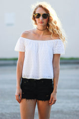 Lace Off The Shoulder Top - Never Naked Boutique