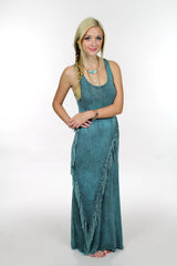 Teal Fringe Dress