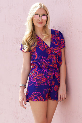 Paisley Romper - Never Naked Boutique