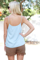 Dreaming Denim Top - Never Naked Boutique