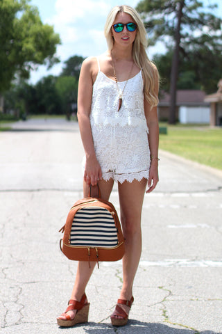 Haute In Lace Romper