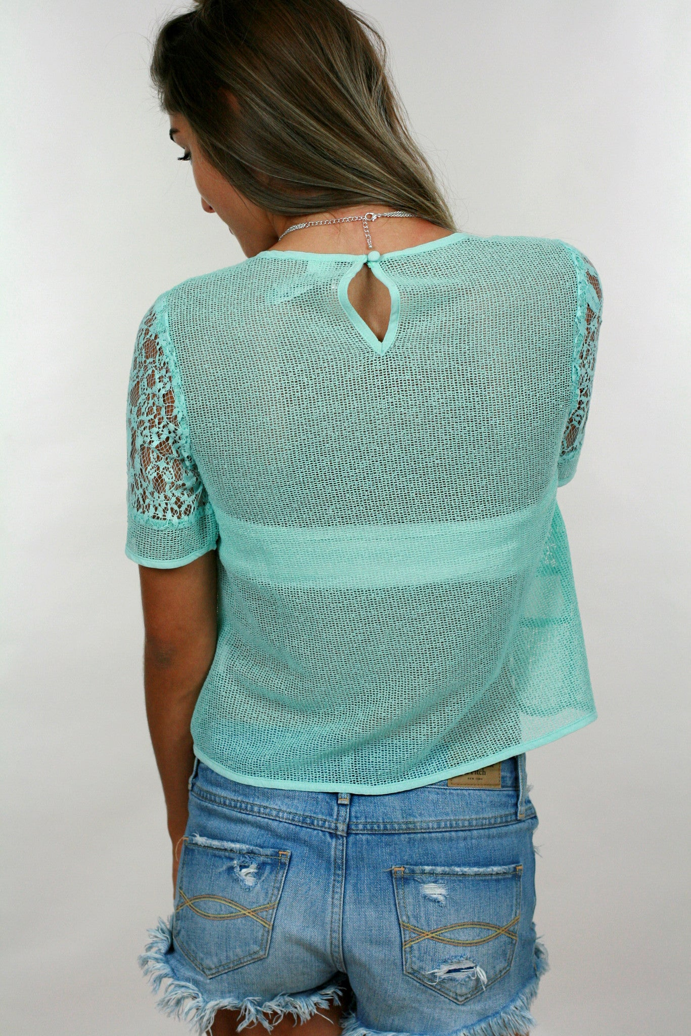 Glam Teal Top - Never Naked Boutique