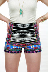 Color Me In Graphic Shorts - Never Naked Boutique