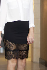 Black Lace Skirt - Never Naked Boutique