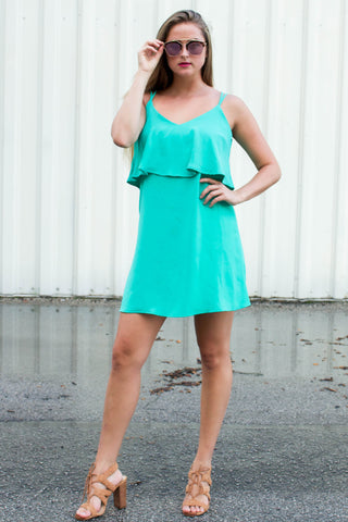Talking In Teal Dress
