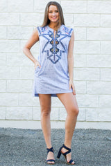Anchor Summer Dress - Never Naked Boutique
