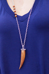 Wooden Tusk Necklace