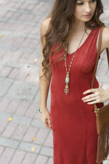 Rust Suede Dress
