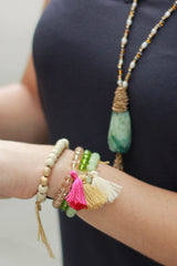 Beaded Tassel Bracelet - Never Naked Boutique