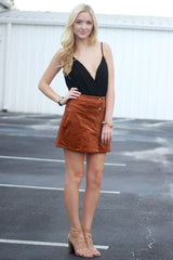 Structured Camel Skirt