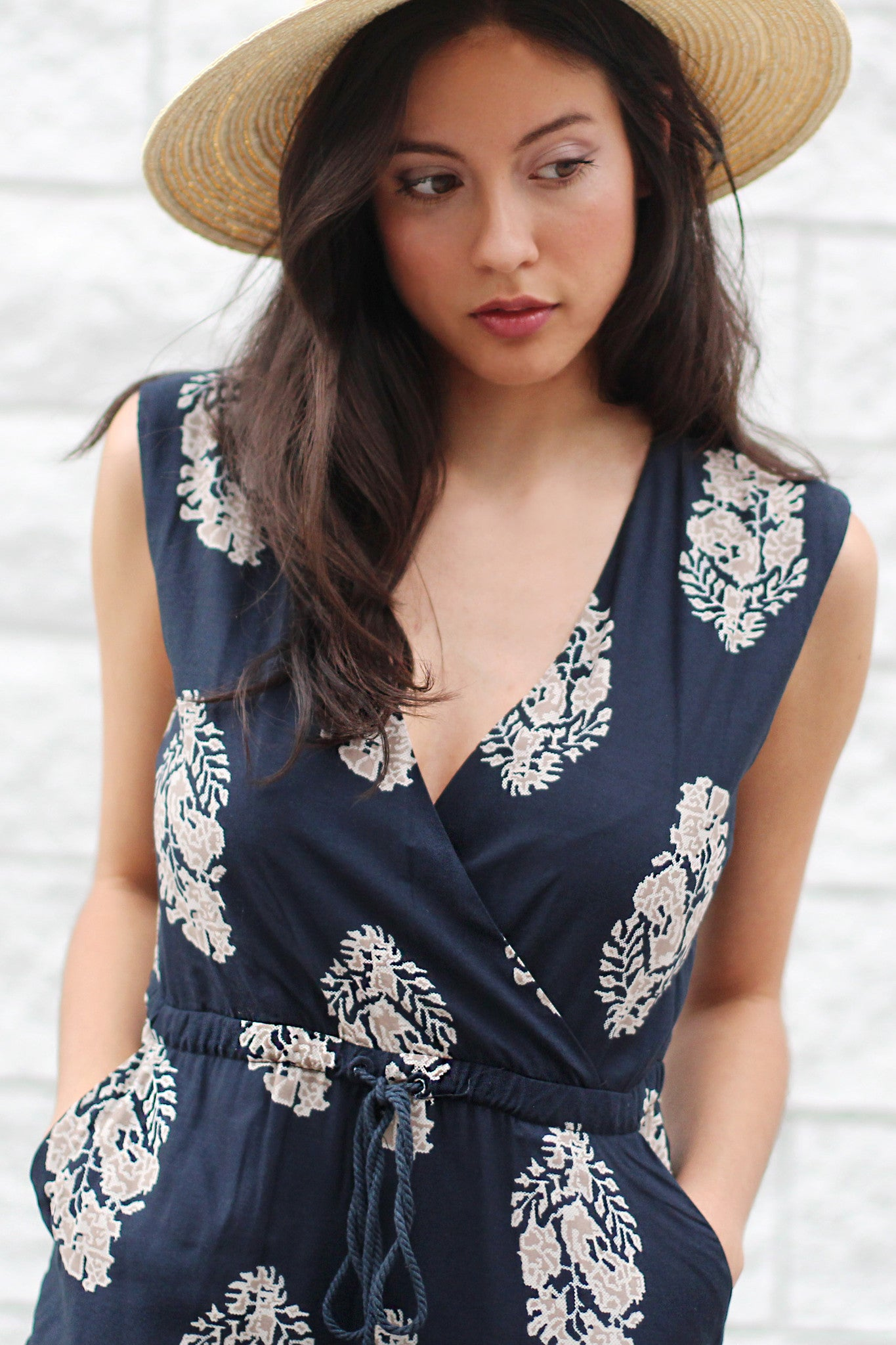 All That Navy Jumpsuit - Never Naked Boutique