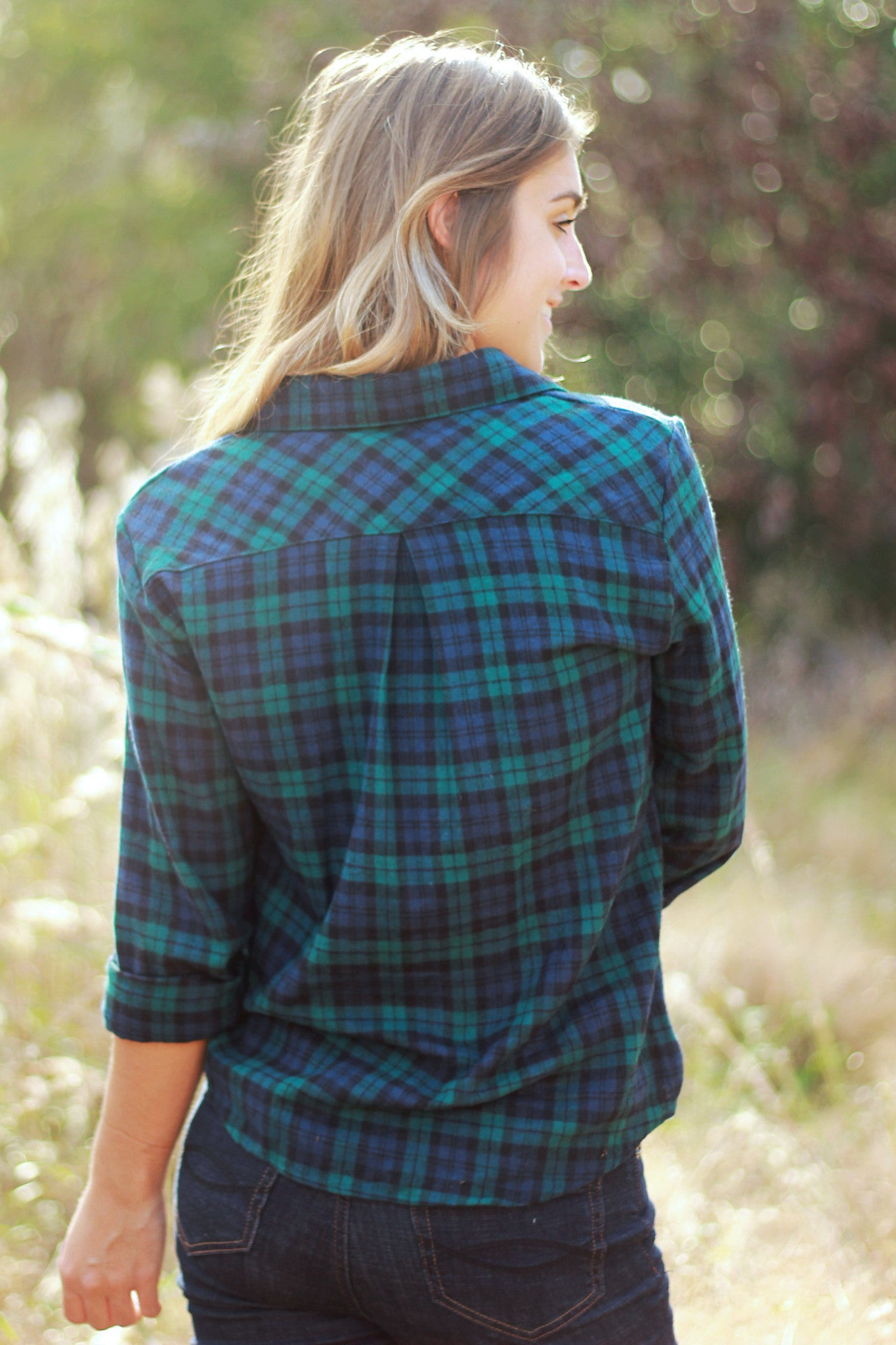 Plaid Over You Top